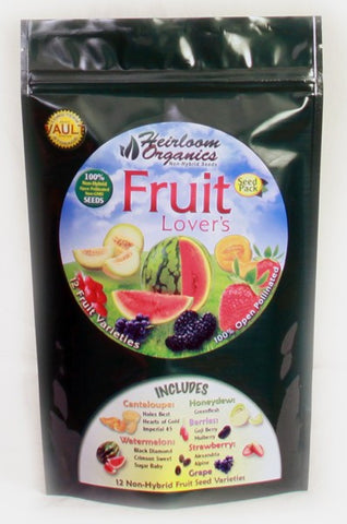 Heirloom Organics Fruit Lovers Pack - Forge Survival Supply - lowest price