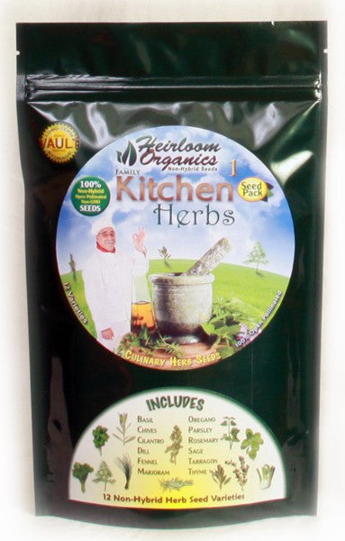 Heirloom Organics Kitchen Herbs Pack - Forge Survival Supply - lowest price