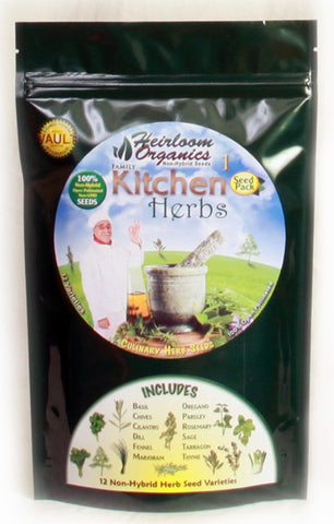 Heirloom Organics Kitchen Herbs Pack - Forge Survival Supply