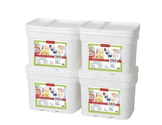 Lindon Farms Freeze Dried Stackable Emergency Food Storage (1 Person  4 Months 1440 Servings)