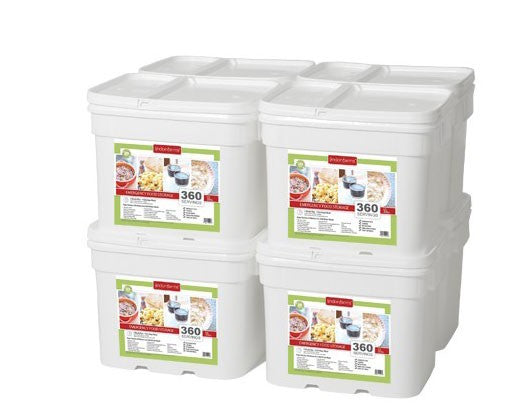 Lindon Farms Freeze-Dried Stackable Emergency Food Storage (1-Person 8-Months 2880 Servings)