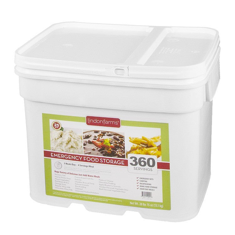 Lindon Farms Freeze Dried Stackable Emergency Food Storage 1 Person