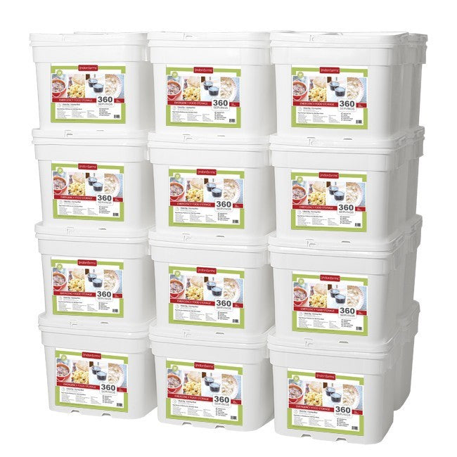 Lindon Farms Freeze-Dried Stackable Emergency Food Storage (1-Person 2-Years 8640 Servings)