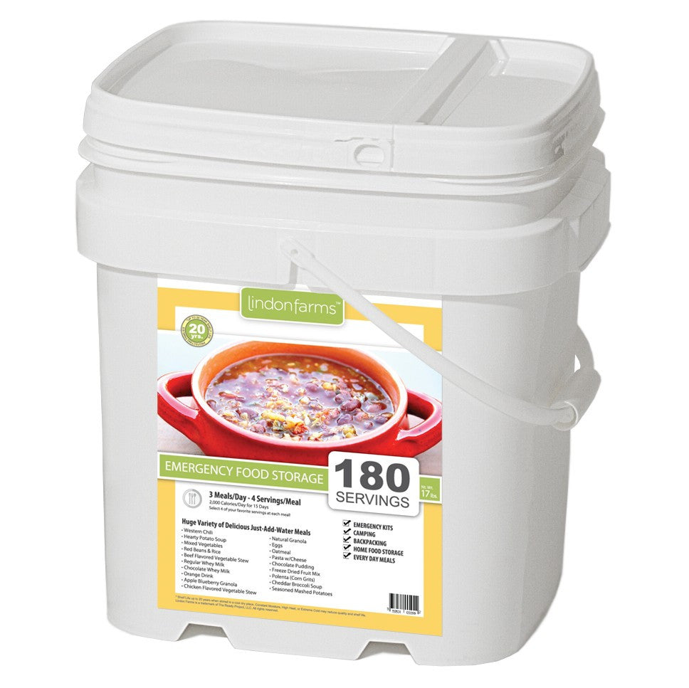 Lindon Farms Freeze Dried Stackable Emergency Food Storage (1 Person 1 U2013  Forge Survival Supply