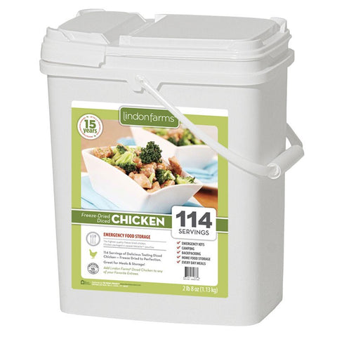 Lindon Farms Freeze-Dried Diced Chicken (114 Servings)
