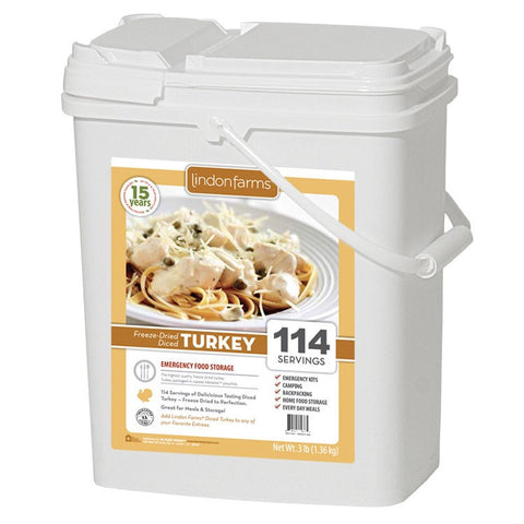 Lindon Farms Freeze-Dried Diced Turkey (114 Servings)