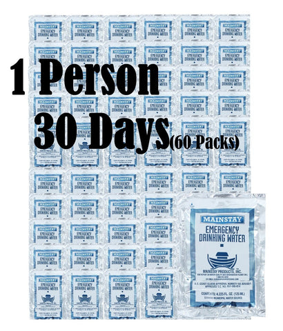 Mainstay Emergency Drinking Water Pouches (Case of 60) - Forge Survival Supply