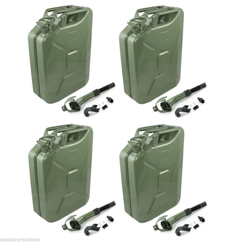 Wavian Nato 5-Gallon Jerry Can OD Fuel Storage (Case of 4) - Forge Survival Supply