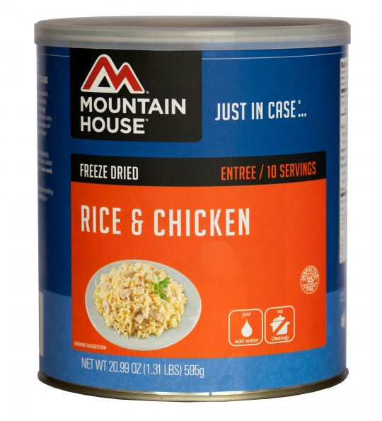 Mountain House Freeze-Dried Rice & Chicken #10 Cans (Case of 6)