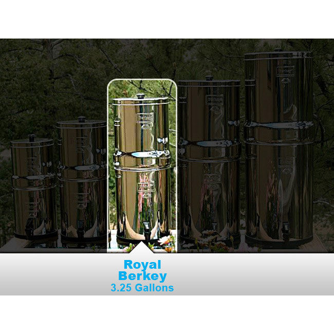 Royal Berkey 3.25-Gallon Water Purification System (Four 4 Elements) - Forge Survival Supply