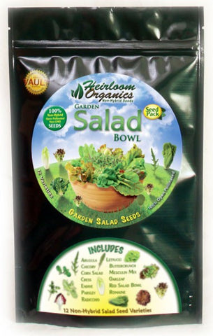 Heirloom Organics Garden Salad Pack - Forge Survival Supply