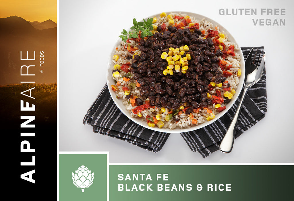 AlpineAire Freeze-Dried Sante Fe Black Beans and Rice Pouches (Case of 12) - Forge Survival Supply