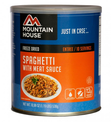 Mountain House Freeze-Dried Spaghetti with Meat and Sauce #10 Cans (Case of 6)