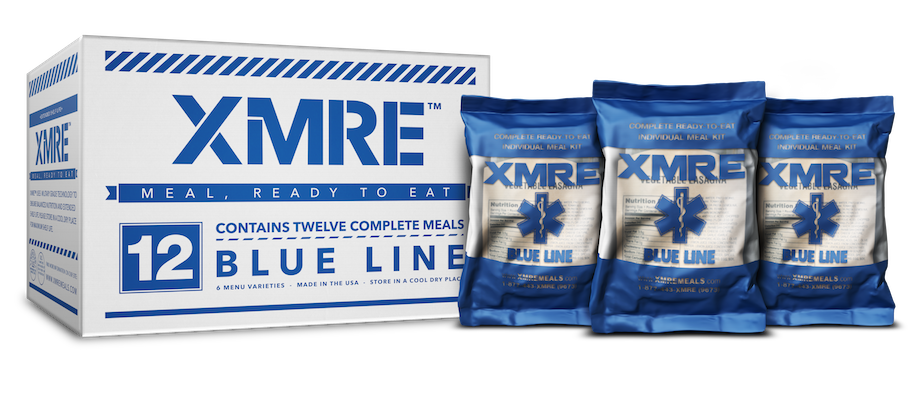 XMRE Blue Line Without MRE Heater Bags (Case of 12)