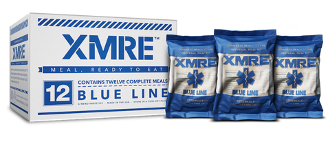 XMRE Blue Line Includes MRE Heater Bags (Case of 12) - Forge Survival Supply