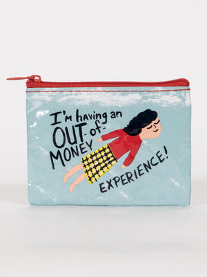 Out of Money Experience Coin Purse-Coin Purse-Blue Q-The Library Marketplace