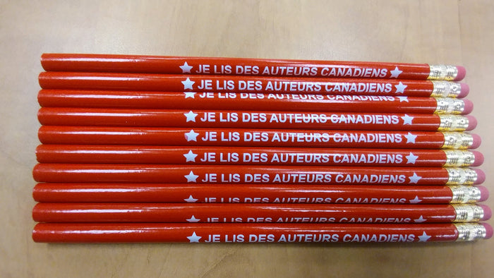 Je lis des auteurs canadiens Pencils 10/Pack