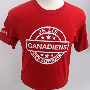 T-Shirt Je Lis Des Auteurs Canadiens