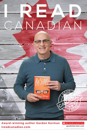 Gordon Korman Poster - I Read Canadian