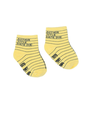 Library Card Baby/Toddler Sock 4-pack