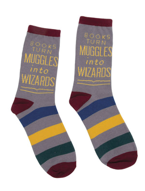 Books Turn Muggles Into Wizard Socks-Socks-Out of Print-The Library Marketplace