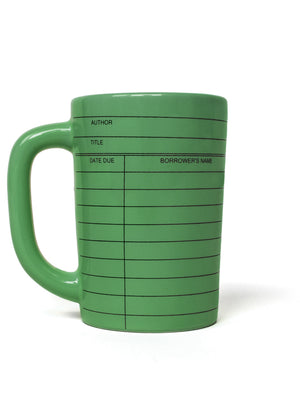Library Card Mug (Green)-Mug-Out of Print-The Library Marketplace