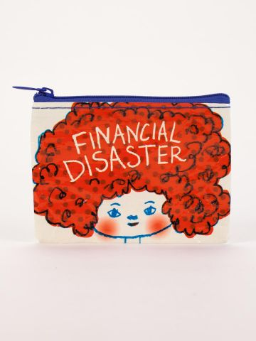 Financial Disaster Coin Purse-Coin Purse-Blue Q-The Library Marketplace