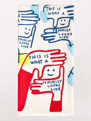 This is What a Feminist Looks Like Printed Towel-Tea Towel-Blue Q-The Library Marketplace