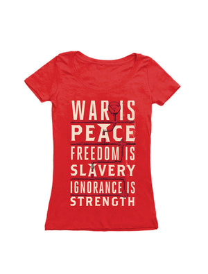 War is Peace T-Shirt-T-Shirt-Out of Print-Women's-Small-The Library Marketplace