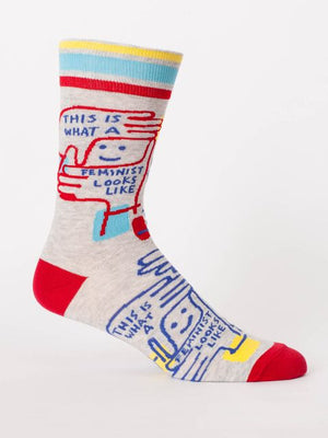 Feminist Looks Like Men's Sock - The Library Marketplace