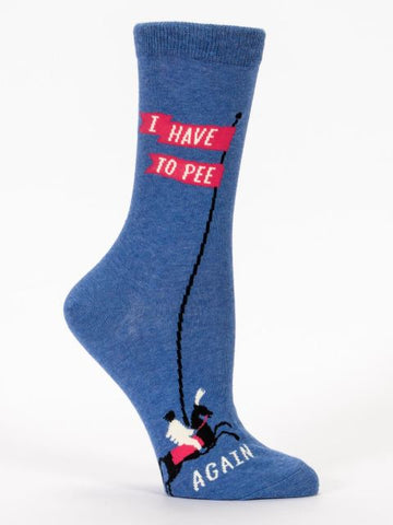 I Have To Pee Again Socks-Socks-Blue Q-The Library Marketplace