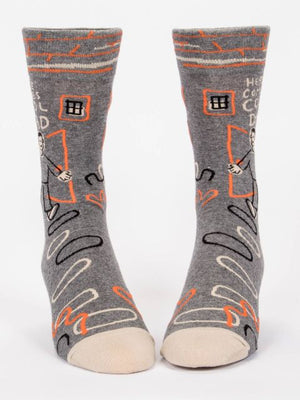Here Comes Cool Dad Socks-Socks-Blue Q-The Library Marketplace