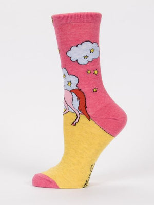 Always Be Yourself Unicorn Socks-Socks-Blue Q-The Library Marketplace
