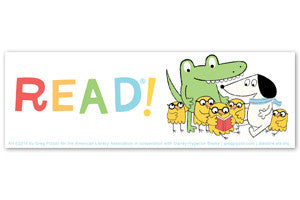 Pizzoli's Pals Read Bookmark