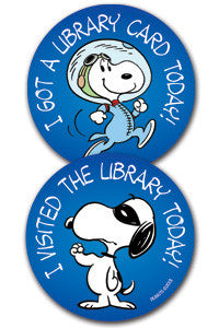 Snoopy Library Stickers - The Library Marketplace