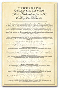 Declaration for Libraries Poster - The Library Marketplace