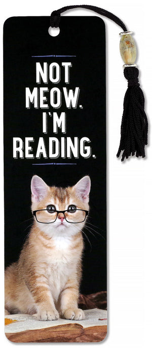 Not Meow. I'm Reading. Beaded Bookmark-Beaded Bookmark-Peter Pauper Press-The Library Marketplace