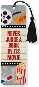 Never Judge a Book by Its Movie Beaded Bookmark - The Library Marketplace
