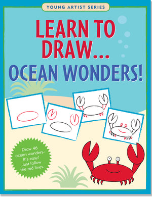 Learn to Draw... Ocean Wonders!-Workbook-Peter Pauper Press-The Library Marketplace