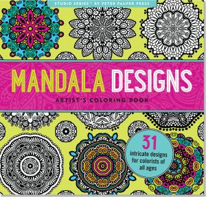 Mandala Designs Artist's Coloring Book-Colouring Book-Peter Pauper Press-The Library Marketplace