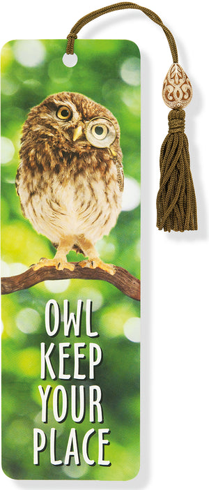 Owl Keep Your Place Beaded Bookmark-Beaded Bookmark-Peter Pauper Press-The Library Marketplace