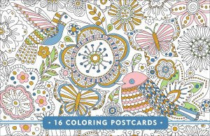 Blooms, Birds, & Butterflies Colouring Postcards-Postcards-Peter Pauper Press-The Library Marketplace