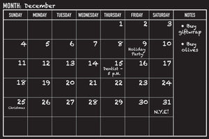 Peel-and-Stick Chalkboard Calendar-Calendar-Peter Pauper Press-The Library Marketplace