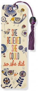 She Believed She Could Beaded Bookmark - The Library Marketplace