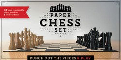 Paper Chess Set: Punch Out the Pieces and Play - The Library Marketplace