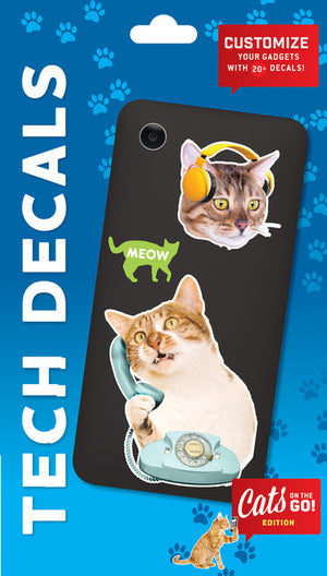 Cats on the Go: Tech Decals-Decal-Chronicle Books-The Library Marketplace