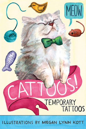 Cattoos!: Temporary Tattoos-Tattoos-Chronicle Books-The Library Marketplace