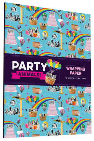 Party Animals! Wrapping Paper-Paper Wrap-Chronicle Books-The Library Marketplace