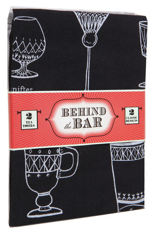 Behind the Bar: 2 Tea Towels-Tea Towels-Chronicle Books-The Library Marketplace