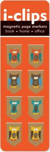 Owls i-clips Magnetic Page Markers - The Library Marketplace